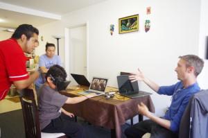 Matt sonic demoing his rift and speaking about virtualreality.io
